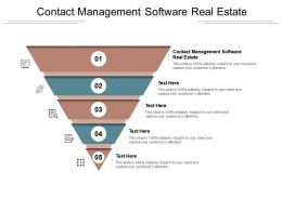 Contact Management Software Real Estate Ppt Powerpoint Presentation Pictures Good Cpb