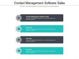 Contact Management Software Sales Ppt Powerpoint Presentation Layouts Rules Cpb