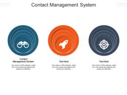 Contact Management System Ppt Powerpoint Presentation Gallery Slides Cpb