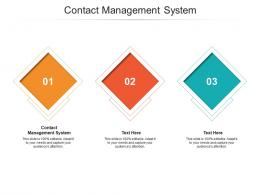 Contact Management System Ppt Powerpoint Presentation Model Design Ideas Cpb