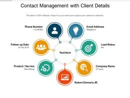 Contact Management With Client Details