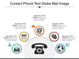 Contact Phone Text Globe Mail Image