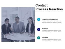 Contact Process Reaction Ppt Powerpoint Presentation Slides Outline Cpb