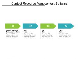 Contact Resource Management Software Ppt Powerpoint Presentation Model Layout Ideas Cpb
