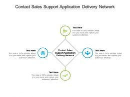 Contact Sales Support Application Delivery Network Ppt Powerpoint Presentation Model Information Cpb