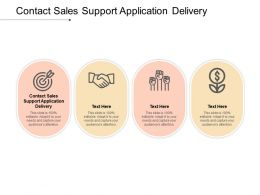 Contact Sales Support Application Delivery Ppt Powerpoint Presentation Layouts Elements Cpb