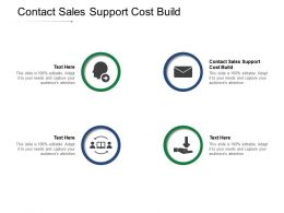 Contact Sales Support Cost Build Ppt Powerpoint Presentation Styles Clipart Cpb