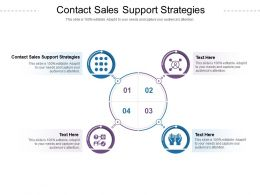 Contact Sales Support Strategies Ppt Powerpoint Presentation Slides Background Designs Cpb
