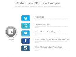 Contact Slide Ppt Slide Examples