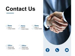 Contact Us Communication Ppt Powerpoint Presentation Model Structure