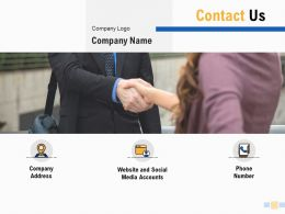 Contact Us Company Logo Ppt Powerpoint Presentation Pictures Aids