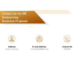 Contact Us For HR Outsourcing Business Proposal Ppt Powerpoint Presentation File Graphics Pictures