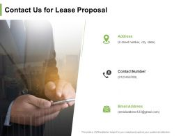 Contact Us For Lease Proposal Ppt Powerpoint Presentation Show Example Introduction