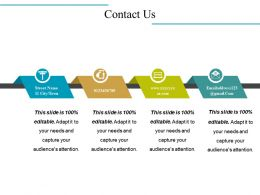 Contact Us Powerpoint Slide Information