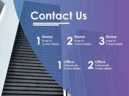 Contact Us Ppt Portfolio Influencers