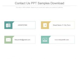 Contact Us Ppt Samples Download