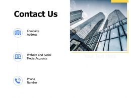 Contact Us Social Media Accounts K343 Ppt Powerpoint Presentation Icons