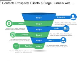 Contacts Prospects Clients 6 Stage Funnels With Icons