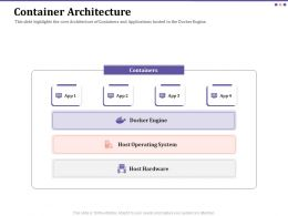 Container Architecture Engine Ppt Powerpoint Presentation Icon Influencers