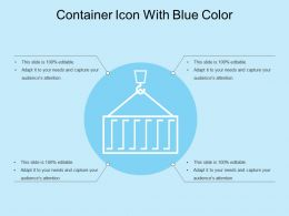 Container Icon With Blue Color