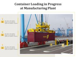 Container Loading In Progress At Manufacturing Plant
