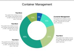 Container Management Ppt Powerpoint Presentation File Clipart Images Cpb