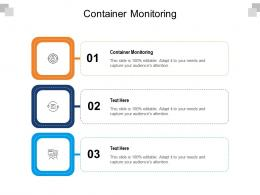 Container Monitoring Ppt Powerpoint Presentation Pictures Backgrounds Cpb