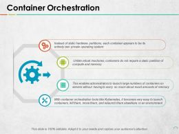 Container Orchestration Ppt Portfolio Background Image