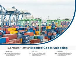 Container Port For Exported Goods Unloading