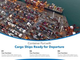 Container Port With Cargo Ships Ready For Departure
