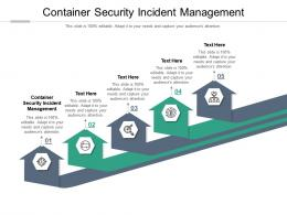Container Security Incident Management Ppt Powerpoint Presentation Show Examples Cpb