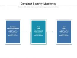 Container Security Monitoring Ppt Powerpoint Presentation Visual Aids Files Cpb