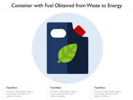 Container With Fuel Obtained From Waste To Energy