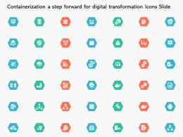 Containerization A Step Forward For Digital Transformation Icons Slide Ppt Powerpoint Presentation Pictures