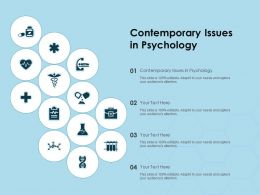Contemporary Issues In Psychology Ppt Powerpoint Presentation Portfolio Slide