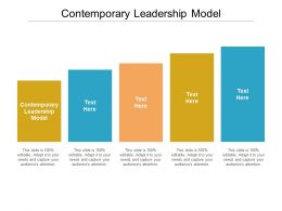 Contemporary Leadership Model Ppt Powerpoint Presentation Infographic Template Layout Cpb