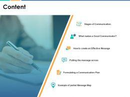 Content Agenda F142 Ppt Powerpoint Presentation Pictures Portfolio