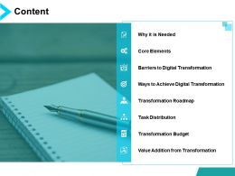 Content Agenda Ppt Powerpoint Presentation File Visuals