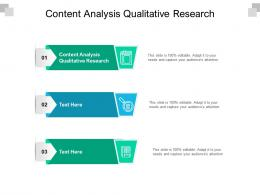 Content Analysis Qualitative Research Ppt Powerpoint Show Slide Download Cpb