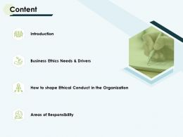 Content And Agenda Ppt Powerpoint Presentation Pictures Design