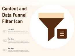 Content And Data Funnel Filter Icon