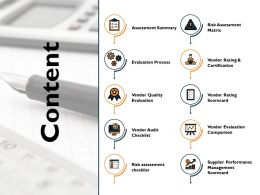 Content Assessment Summary Ppt Powerpoint Presentation Icon Themes