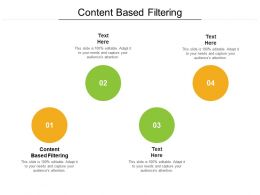 Content Based Filtering Ppt Powerpoint Presentation Gallery Graphic Tips Cpb