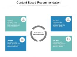Content Based Recommendation Ppt Powerpoint Presentation Show Outfit Cpb