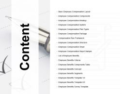 Content Basic Employee Compensation Layout Ppt Powerpoint Presentation Introduction