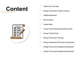 Content Benchmarking I351 Ppt Powerpoint Presentation Infographic Clipart Images