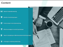 Content Benefits Of Mentoring Program Ppt Powerpoint Presentation