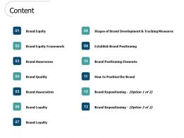 Content Brand Positioning Elements L462 Ppt Powerpoint Presentation Show