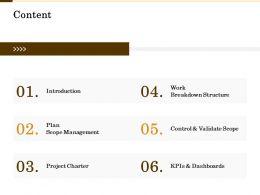 Content Breakdown Structure M2134 Ppt Powerpoint Presentation Model Designs