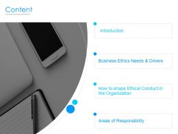 Content Business Ethics L751 Ppt Powerpoint Presentation Layouts Inspiration